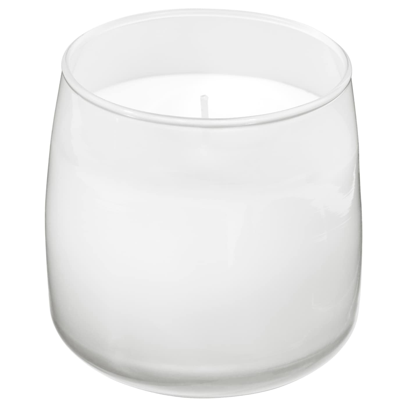 IKEA FRISKHET scented candle in glass A crisp scent of jasmine and sandalwood.