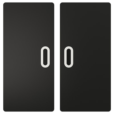 FRITIDS door with blackboard surface anthracite 60.0 cm 64.0 cm 2 pack