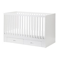 IKEA FRITIDS/STUVA Cot With Drawers The Cot Base Can Be Placed At Two  Different