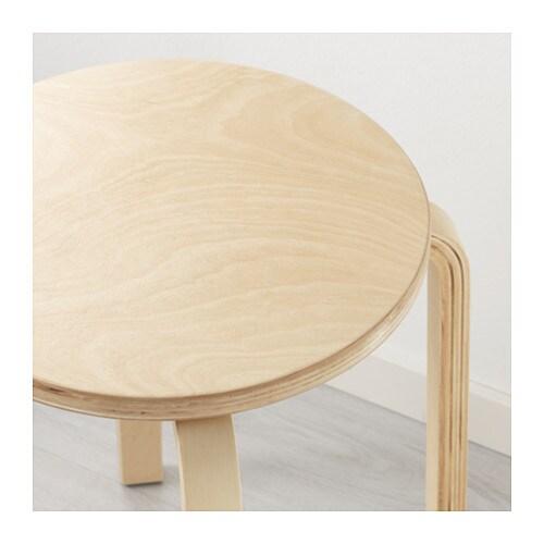 Frosta stool birch plywood ikea for Ikea wood type