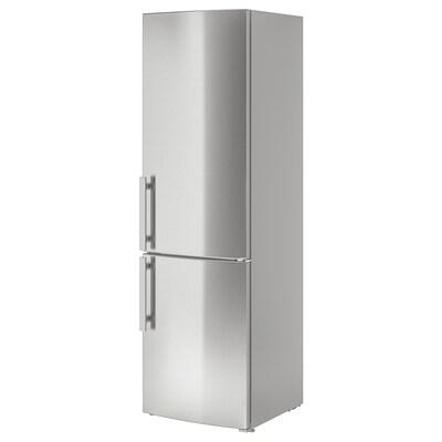 FROSTKALL fridge/freezer stainless steel 59.5 cm 67.7 cm 200.0 cm 2.2 m 250 l 91 l 86 kg