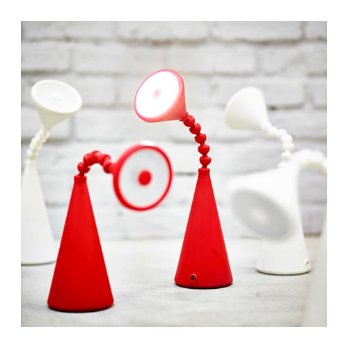 Ikea Red Chandelier: FRYEBO LED Table Lamp Red