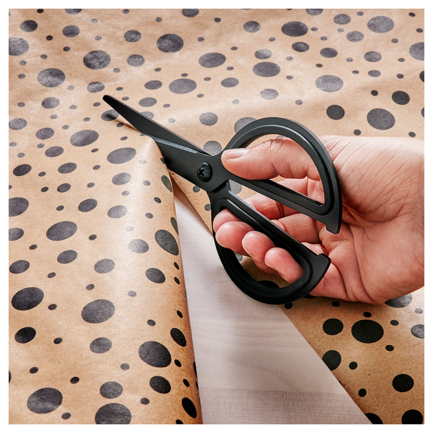 IKEA FULLFÖLJA scissors Comfortable to grip as the inside of the handle is made of soft rubber.