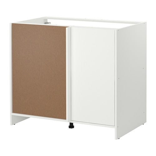 cabinet ikea provides storage and work space in a corner the door