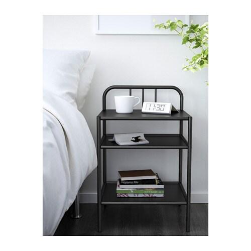 Fyresdal bedside table black 45x38 cm ikea - Mesilla hemnes ikea ...