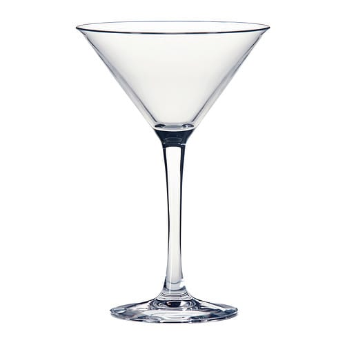 IKEA FYRFALDIG martini glass