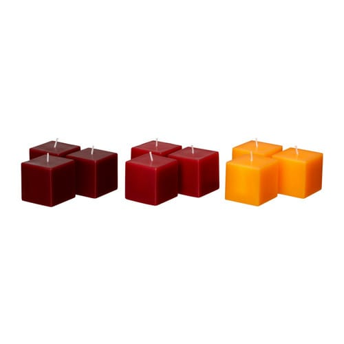 FYRKANTIG Unscented block candle IKEA