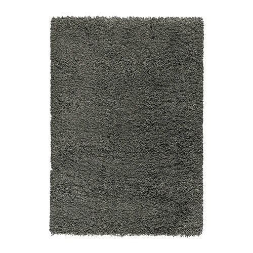 IKEA GÅSER rug, high pile The high pile dampens sound and provides a soft surface to walk on.