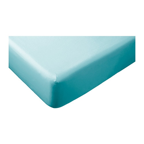 g spa fitted sheet turquoise 140x200 cm ikea. Black Bedroom Furniture Sets. Home Design Ideas