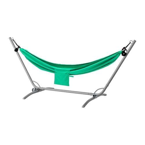 IKEA GÅRÖ/RISÖ hammock with stand Easy to hang up with the included hooks, no need to tie knots.