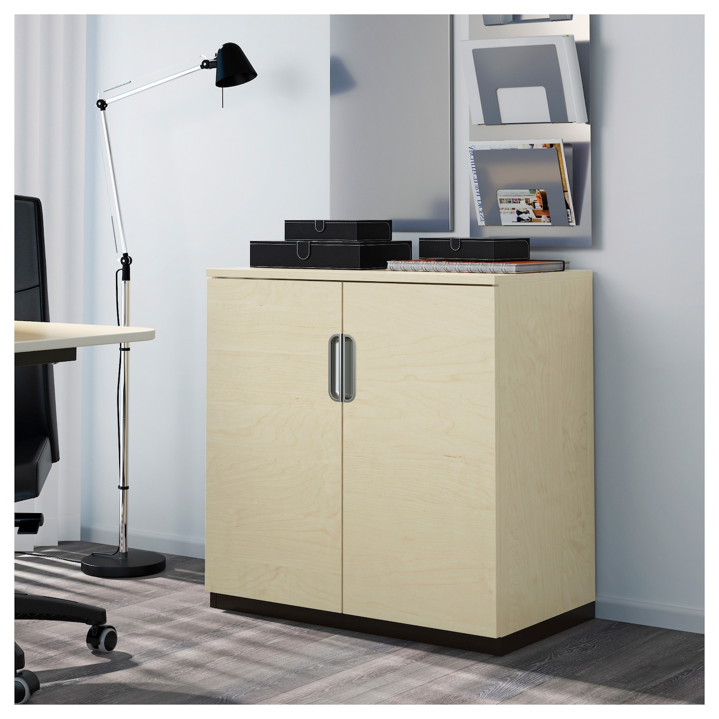 galant cabinet with doors birch veneer 80x80 cm ikea. Black Bedroom Furniture Sets. Home Design Ideas