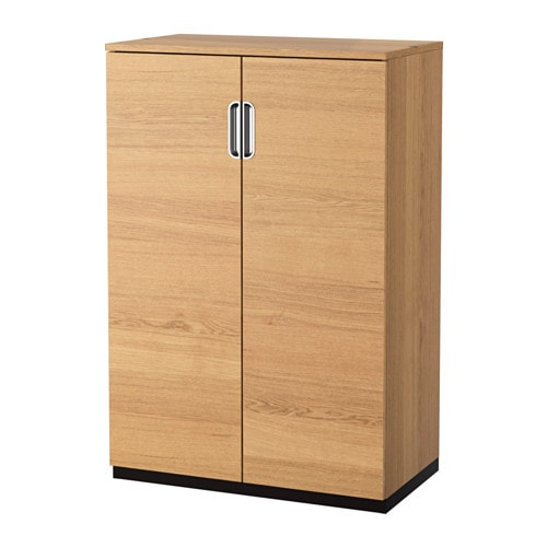 Galant cabinet with doors oak veneer 80x120 cm ikea - Ikea cabinet doors on existing cabinets ...