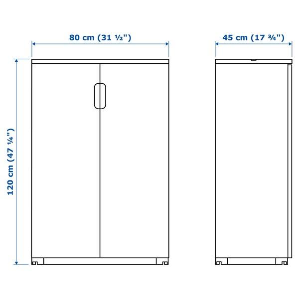 GALANT Cabinet with doors, oak veneer, 80x120 cm