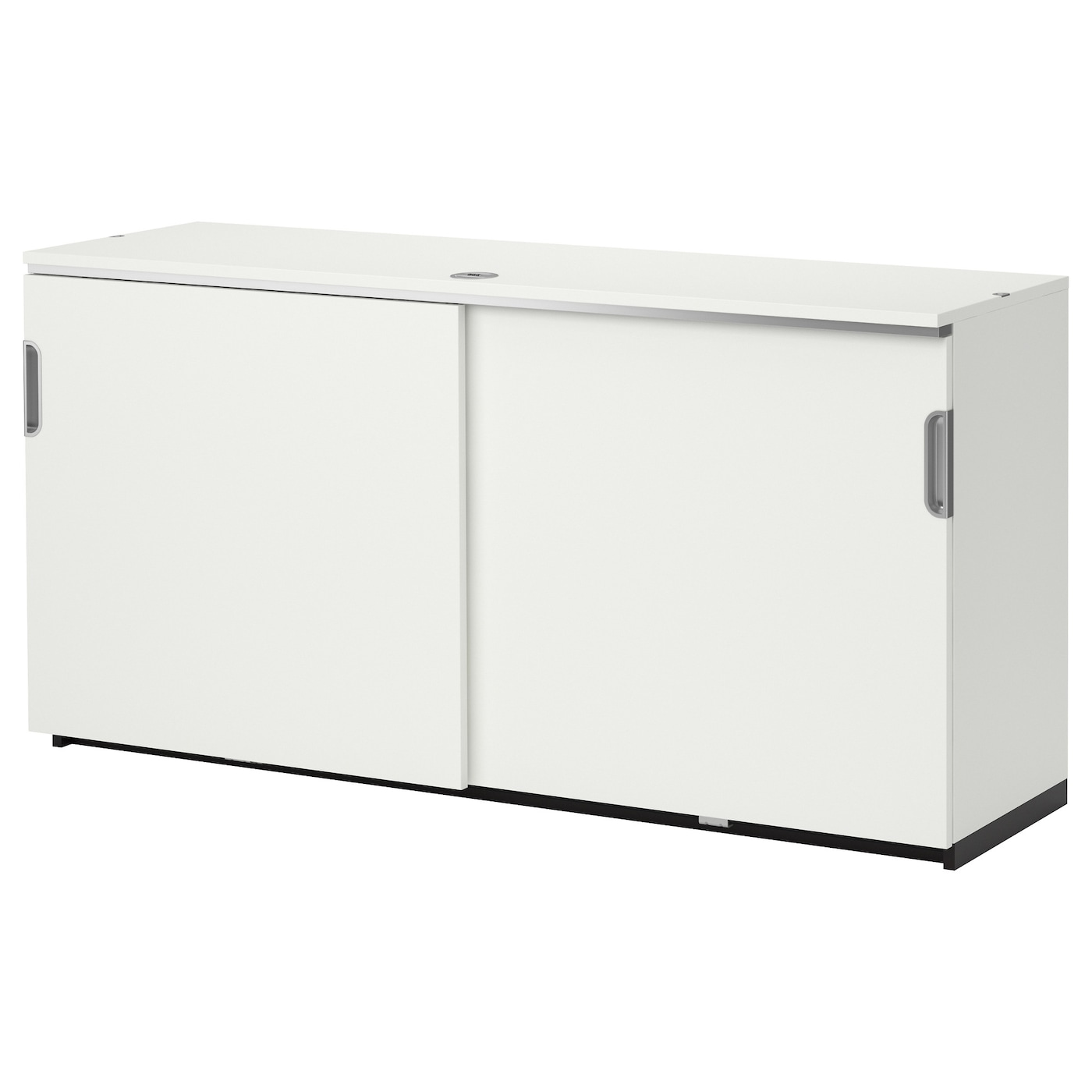 Galant Cabinet With Sliding Doors White 160x80 Cm Ikea
