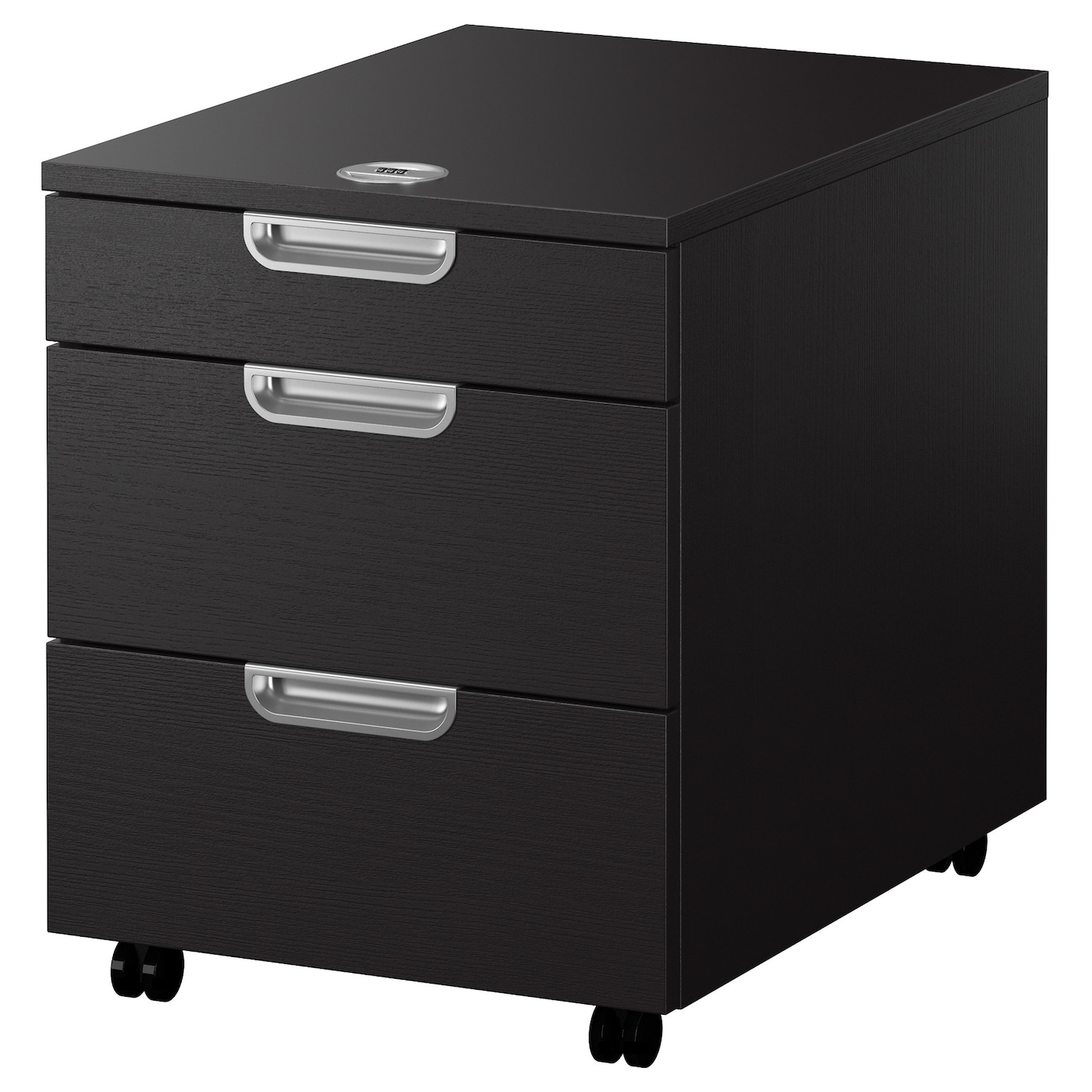 galant drawer unit on castors black brown 45x55 cm ikea. Black Bedroom Furniture Sets. Home Design Ideas