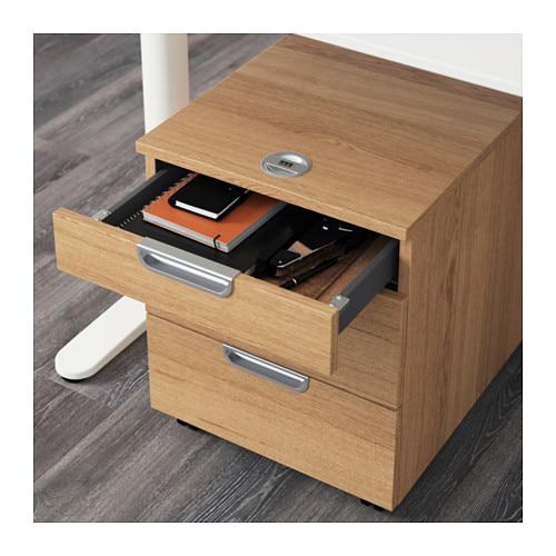 Galant drawer unit on castors oak veneer 45x55 cm ikea - Ikea desk drawer organizer ...
