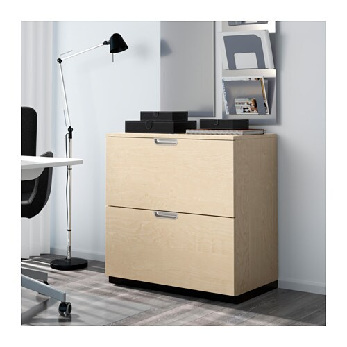 Ikea Trofast Wooden Shelves ~ GALANT Drawer unit with drop file storage Birch veneer 80×80 cm  IKEA