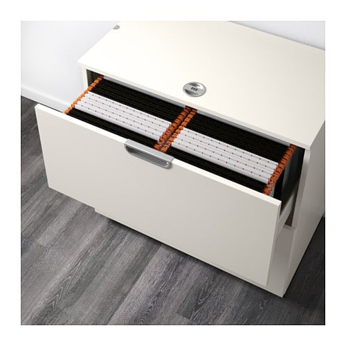 Galant drawer unit with drop file storage white 80x80 cm - Ikea desk drawer organizer ...