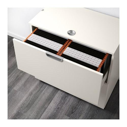Galant drawer unit with drop file storage white 80x80 cm - Ikea desk drawer organizer ...