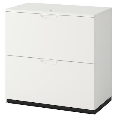 GALANT drawer unit with drop-file storage white 80 cm 45 cm 80 cm
