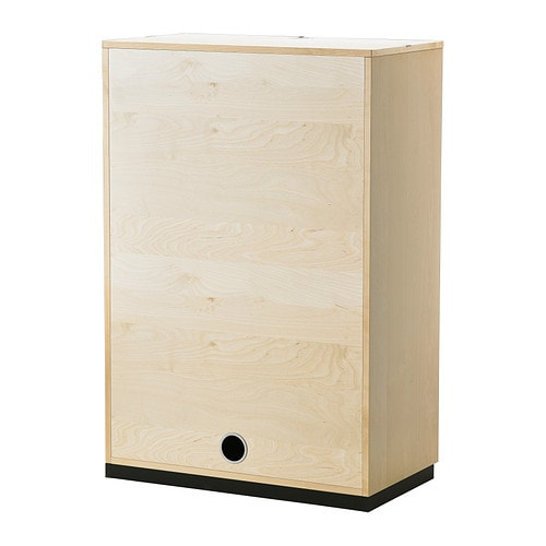 Galant roll front cabinet birch veneer 80x120 cm ikea for Birch veneer kitchen cabinets