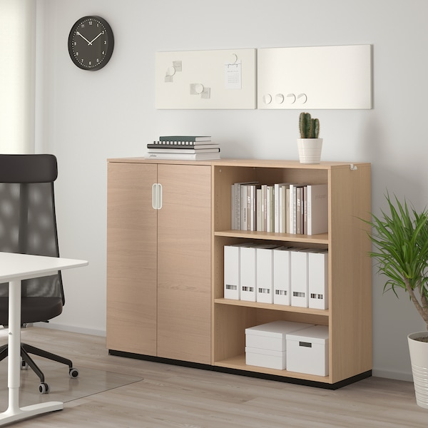 GALANT Storage combination, white stained oak veneer, 160x120 cm