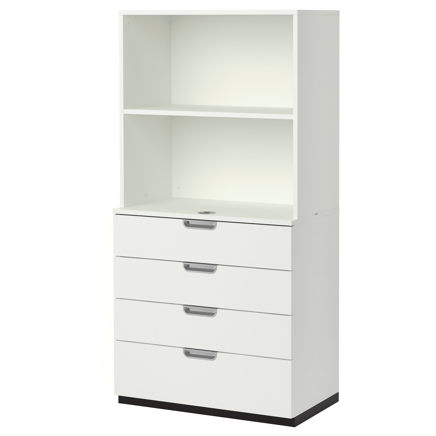 Galant storage combination with drawers white cm ikea