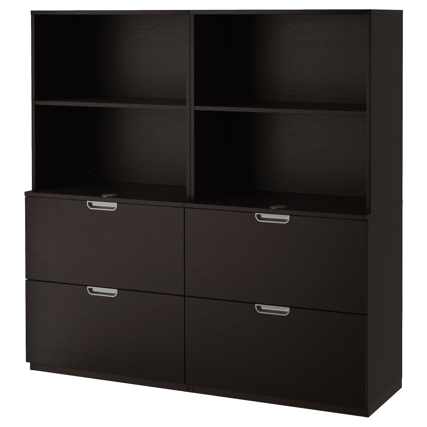 ikea storage cabinets galant storage combination with filing black brown 160 x 17742