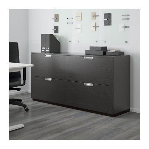 Ikea Eckschrank Küche Gebraucht ~ GALANT Storage combination with filing Black brown 160×80 cm  IKEA