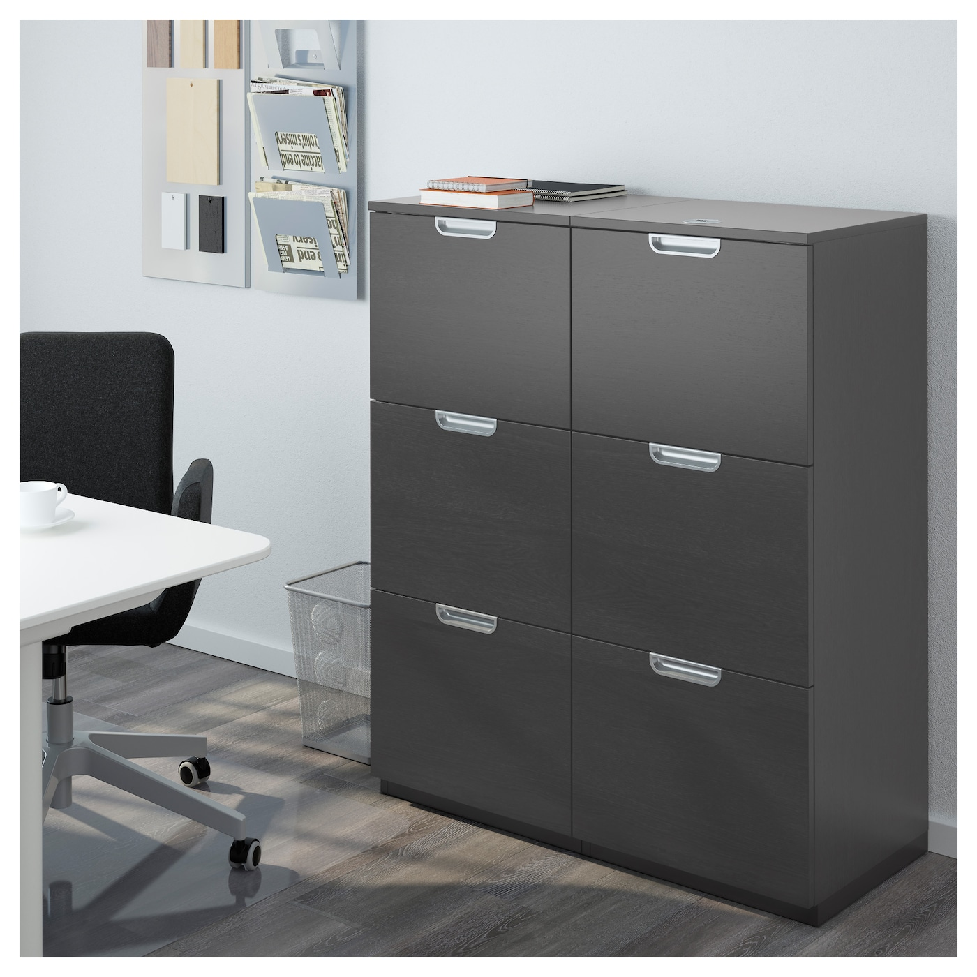 galant storage combination with filing black brown 102 x 120 cm ikea. Black Bedroom Furniture Sets. Home Design Ideas