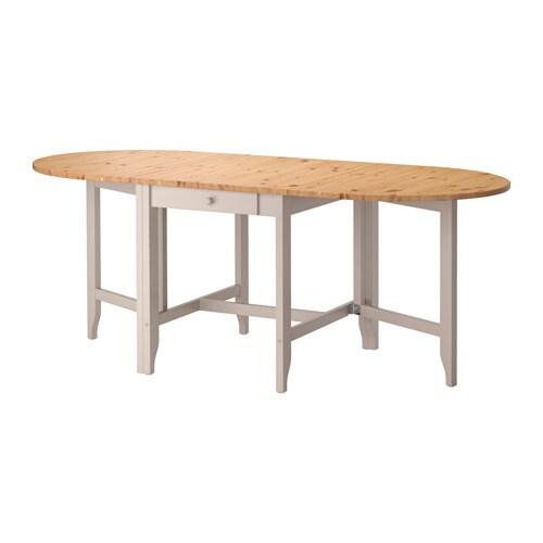 Klapptisch ikea  GAMLEBY Gateleg table Light antique stain/grey 67/134/201x78 cm - IKEA