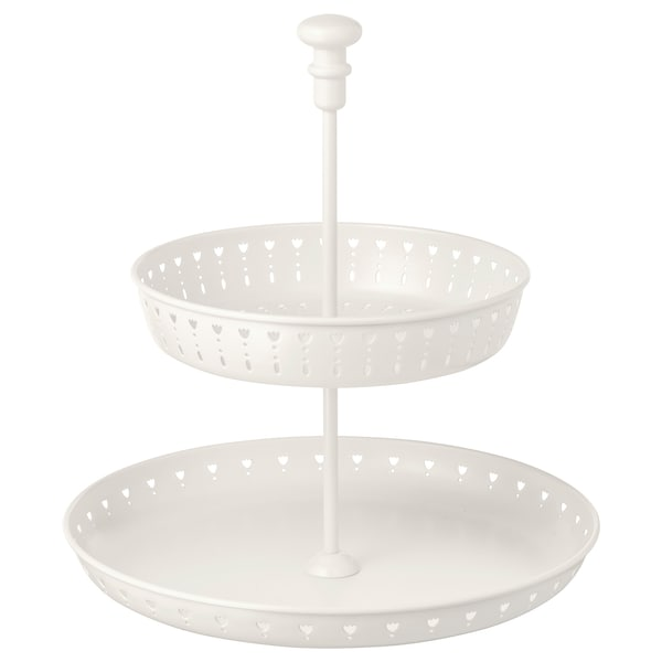 GARNERA serving stand, two tiers white 33 cm 29 cm