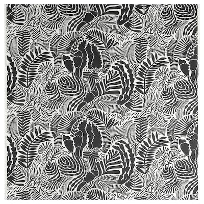 GATKAMOMILL Fabric, white/dark grey, 150 cm