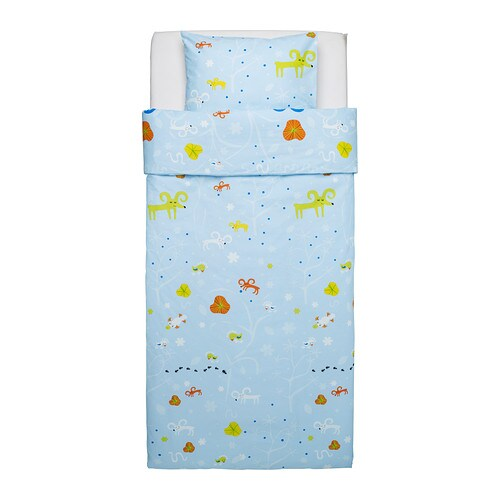IKEA GETTER quilt cover and pillowcase Cotton, soft and nice against your child's skin.