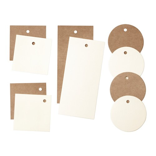 IKEA GIVANDE gift tags, set of 10