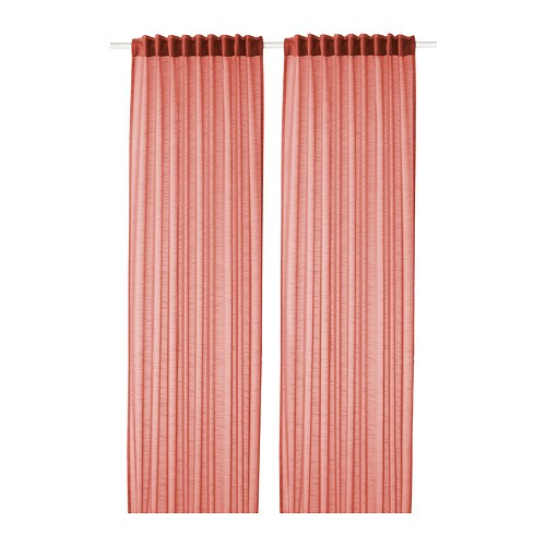 IKEA GJERTRUD Sheer Curtains 1 Pair The Can Be Used On A Curtain Rod