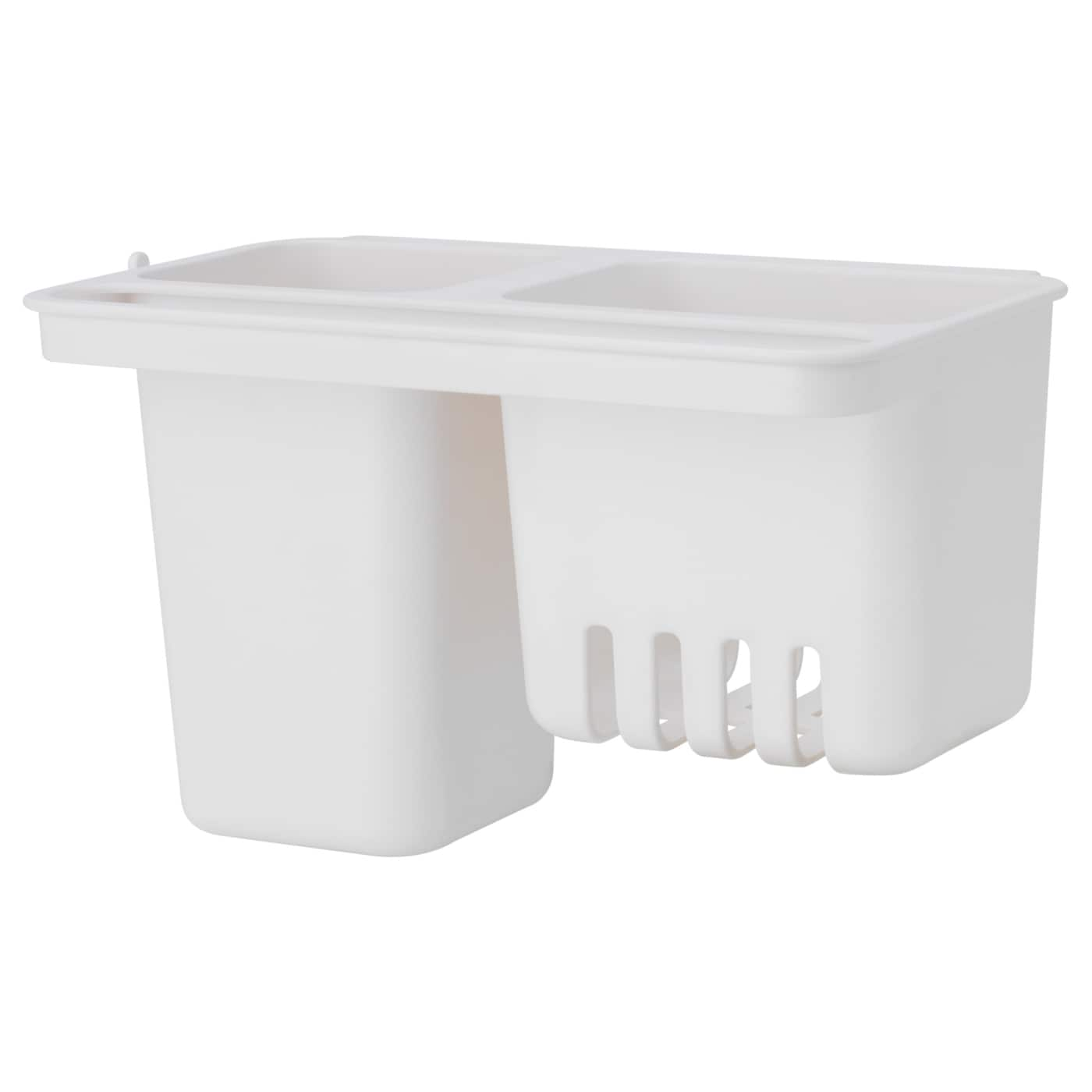 IKEA GLÖMSTA container with suction cup Saves space on the worktop.