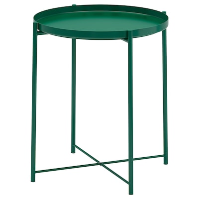 GLADOM Tray table, green, 45x53 cm