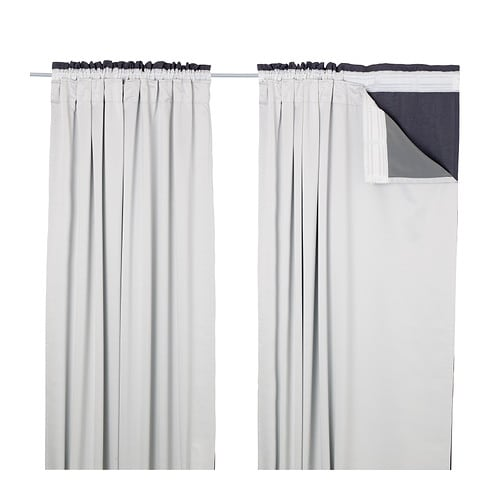 glansnäva curtain liners 1 pair light grey pe s4