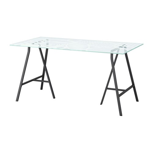 IKEA GLASHOLM/LERBERG table The table top in tempered glass is stain resistant and easy to clean.
