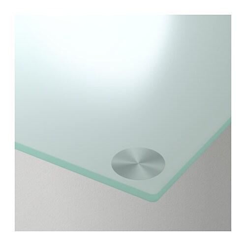 Glasholm table top glass white 99x52 cm ikea - White table with glass top ...