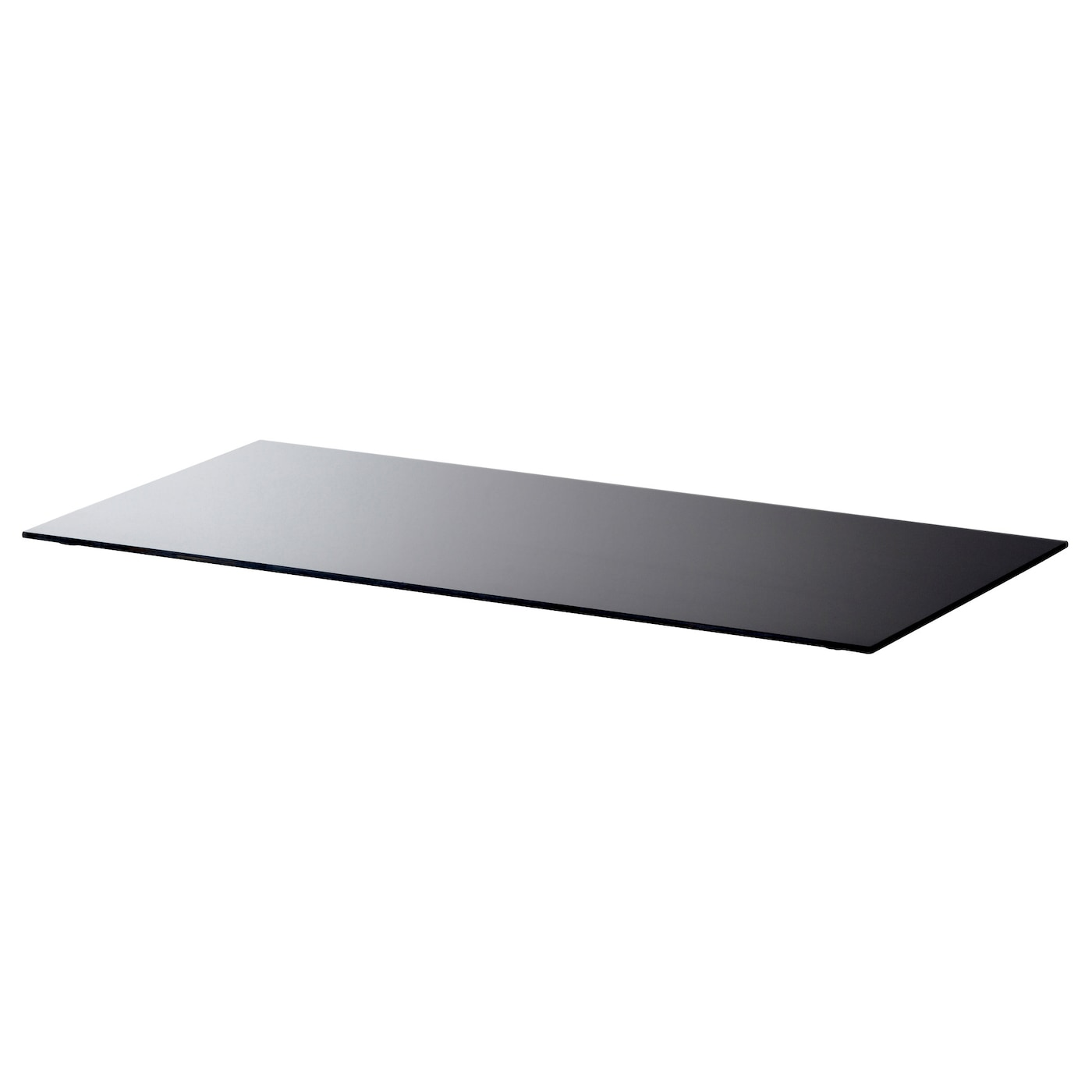 Glasholm table top glass black 99x52 cm ikea for Ikea glass table tops