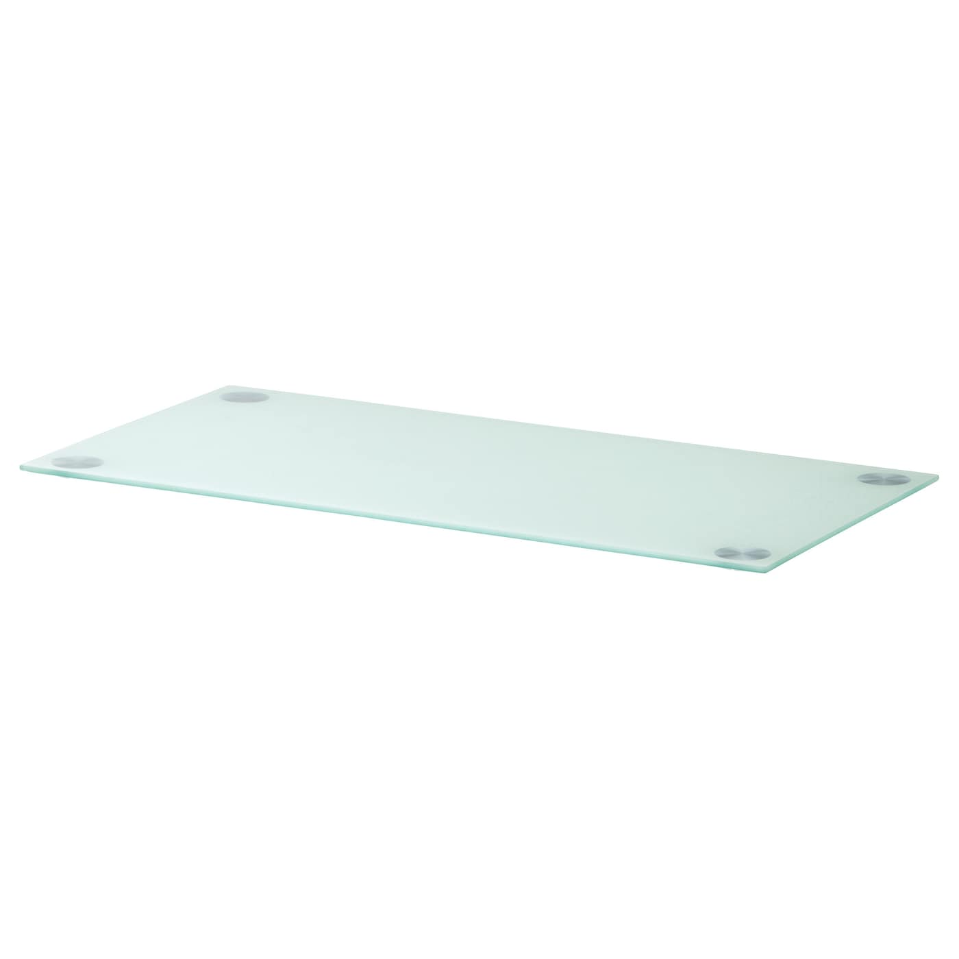 Glasholm table top glass white 99x52 cm ikea for Ikea glass table tops