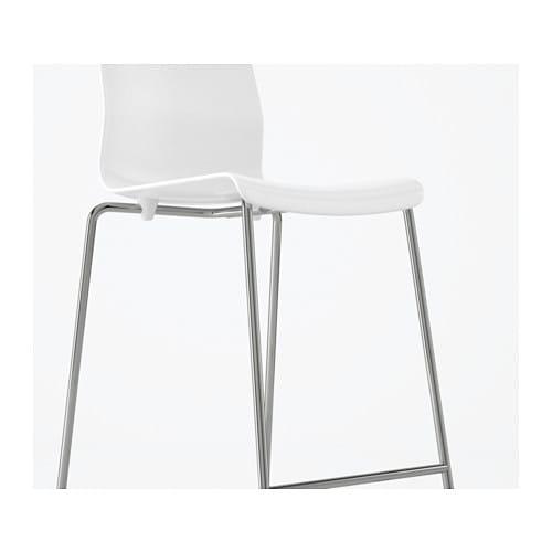 GLENN Bar stool Whitechrome plated 66 cm IKEA : glenn bar stool white chrome plated0451733pe600710s4 from www.ikea.com size 500 x 500 jpeg 15kB