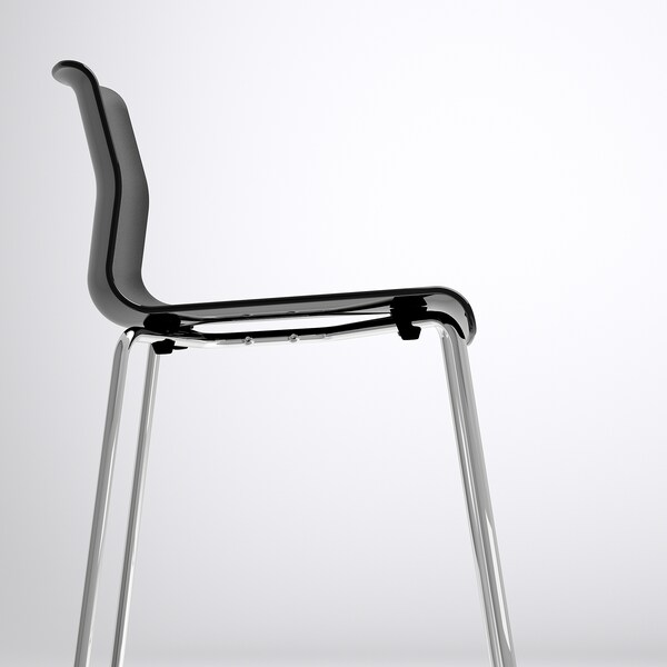 GLENN bar stool black/chrome-plated 100 kg 50 cm 48 cm 89 cm 37 cm 40 cm 66 cm