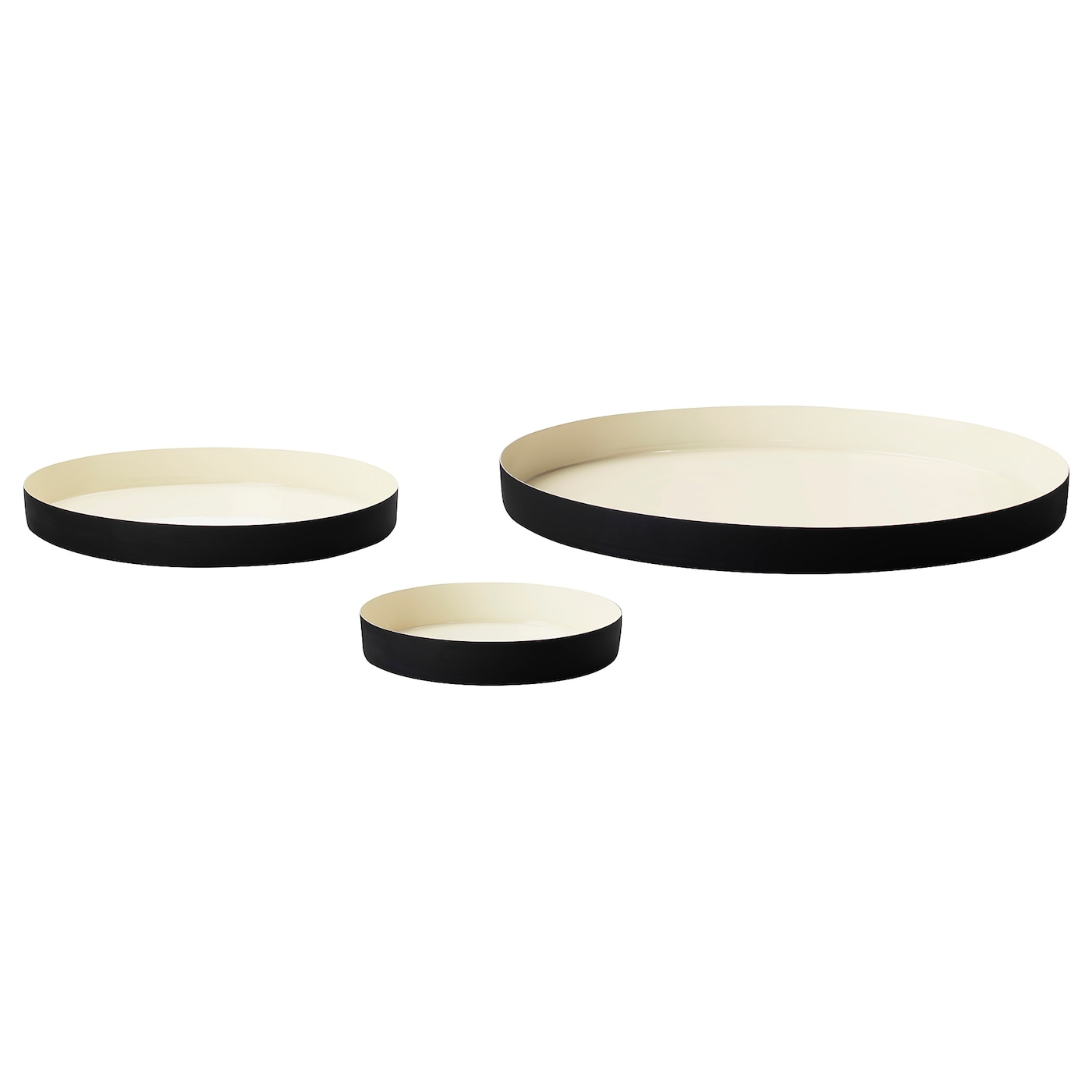 IKEA GLITTRIG candle dish, set of 3