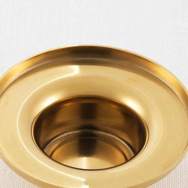 GLITTRIG Tealight holder, gold-colour, 3 cm