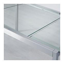 Glivarp extendable table transparent chrome plated 75 - Ikea table extensible ...