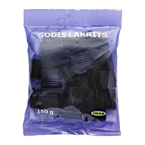 GODIS LAKRITS Sweet and salty liquorice IKEA Sweet liquorice is common and enjoyed worldwide, but salty liquorice is typical for Sweden.