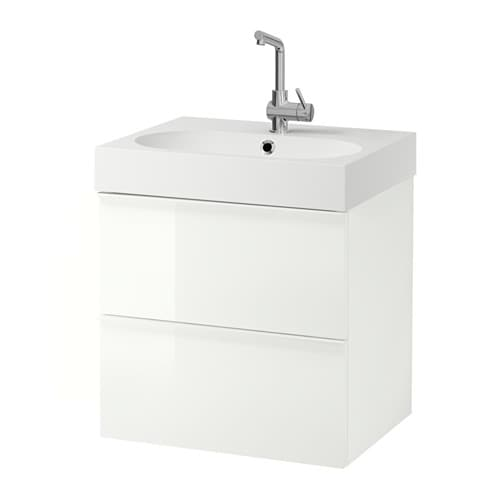 IKEA GODMORGON/BRÅVIKEN wash-stand with 2 drawers